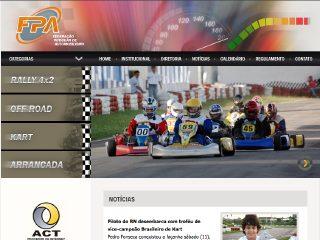 Thumbnail do site FPA - Federação Potiguar de Automobilismo