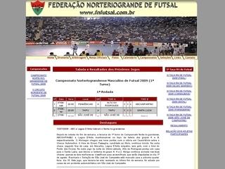 Thumbnail do site Federação Norteriograndense de Futsal