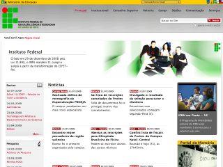 Thumbnail do site Centro Federal de Educação Tecnológica do Rio Grande do Norte
