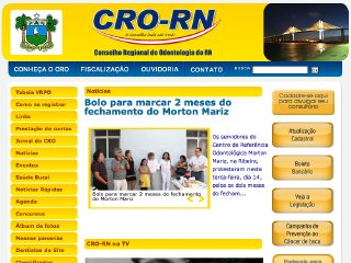 Thumbnail do site CRO-RN Conselho Regional de Odontologia do RN
