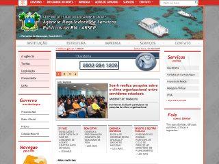 Thumbnail do site ARSEP - Agência Reguladora de Serviços Públicos do RN