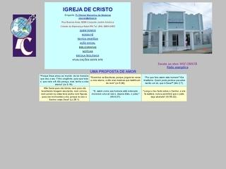 Thumbnail do site Igreja de Cristo