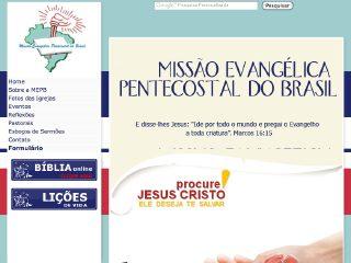 Thumbnail do site Igreja Missão Evangélica Pentecostal do Brasil