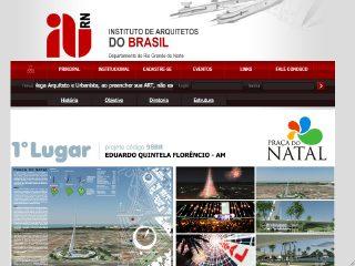 Thumbnail do site IAB RN - Instituto dos Arquitetos do Brasil, Departamento do RN