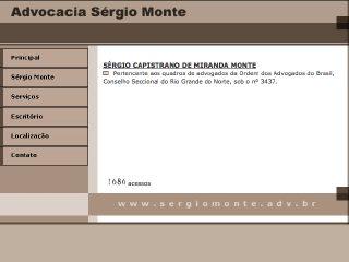 Thumbnail do site Advocacia Sérgio Monte