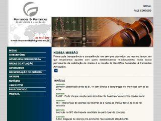Thumbnail do site Fernandes & Fernandes Advogados