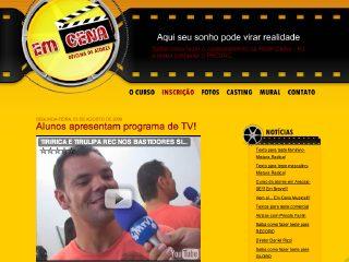Thumbnail do site Em Cena - Oficina de Atores