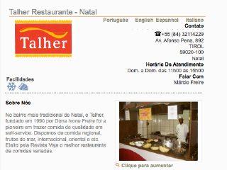 Thumbnail do site Restaurante Talher