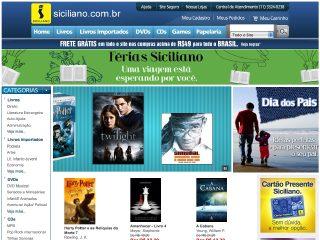 Thumbnail do site Livraria Siciliano