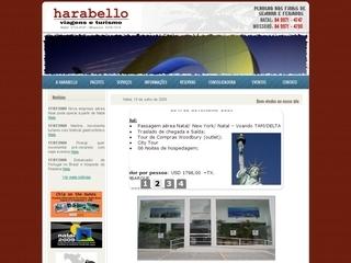 Thumbnail do site Harabello Viagens e Turismo