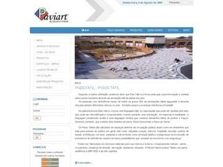 Thumbnail do site PAVIART Artefatos de Cimento Ltda