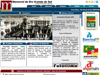 Thumbnail do site Memorial do Rio Grande do Sul
