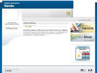 Thumbnail do site Prefeitura Municipal de Gandú