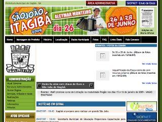 Thumbnail do site Prefeitura Municipal de Itagibá