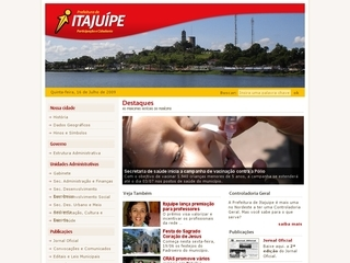 Thumbnail do site Prefeitura Municipal de Itajuípe