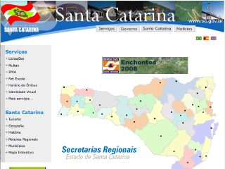 Thumbnail do site Governo do Estado de Santa Catarina