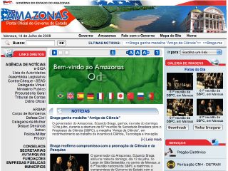 Thumbnail do site Governo do Estado do Amazonas