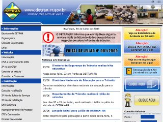 Thumbnail do site DETRAN - Roraima
