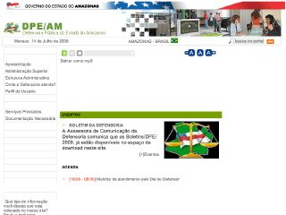 Thumbnail do site Defensoria Pública do Estado do Amazonas