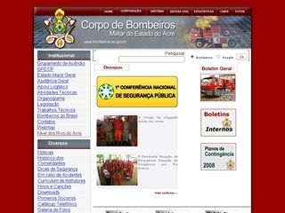 Thumbnail do site Corpo de Bombeiros Militar do Acre