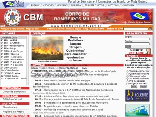 Thumbnail do site Corpo de Bombeiros Militar do Mato Grosso