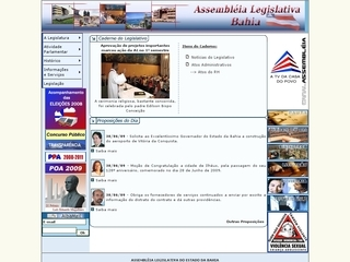 Thumbnail do site Assembléia Legislativa do Estado da Bahia