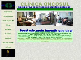 Thumbnail do site ONCOSUL - Clínica de Oncologia Sul da Bahia Ltda