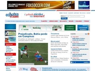 Thumbnail do site Veículo Informativo sobre o Esporte Club Bahia
