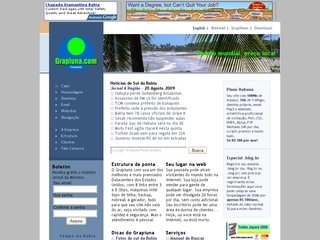 Thumbnail do site Grapiuna.com - hospedagem, dominios, websites