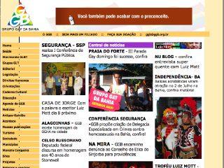 Thumbnail do site Grupo Gay da Bahia - GGB