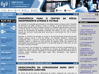 Thumbnail do site Centro de Mídia Independente - Brasil
