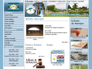 Thumbnail do site Prefeitura Municipal de Taipas do Tocantins
