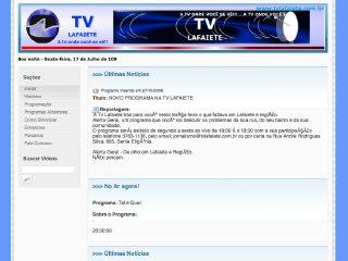 Thumbnail do site TV Lafaiete