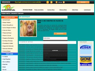 Thumbnail do site Ilhéus Virtual - O maior site de Ilhéus na net