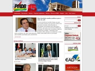 Thumbnail do site Partido do Movimento Democrático Brasileiro (PMDB)