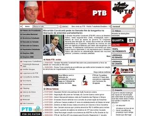 Thumbnail do site Partido Trabalhista Brasileiro (PTB)