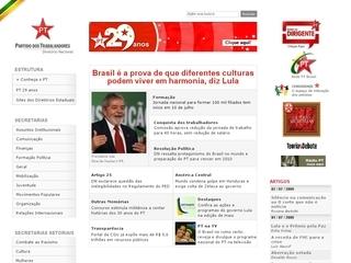 Thumbnail do site Partido dos Trabalhadores (PT)