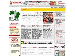 Thumbnail do site Partido Comunista do Brasil (PCdoB)
