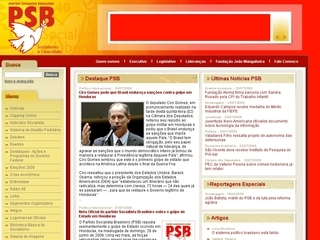 Thumbnail do site Partido Socialista Brasileiro (PSB)