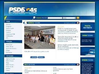 Thumbnail do site Partido da Social Democracia Brasileira (PSDB)