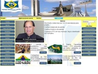 Thumbnail do site Partido Trabalhista Cristão (PTC)