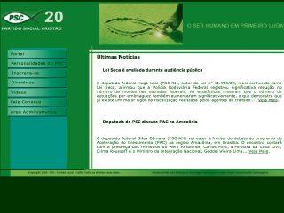 Thumbnail do site Partido Social Cristão (PSC)