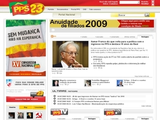 Thumbnail do site Partido Popular Socialista (PPS)