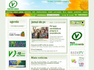 Thumbnail do site Partido Verde (PV)