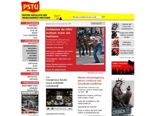 Thumbnail do site Partido Socialista dos Trabalhadores Unificado (PSTU)