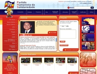 Thumbnail do site Partido Humanista da Solidariedade (PHS)