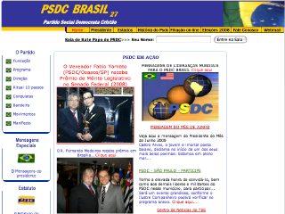 Thumbnail do site Partido Social Democrata Cristão (PSDC)