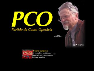 Thumbnail do site Partido da Causa Operária (PCO)