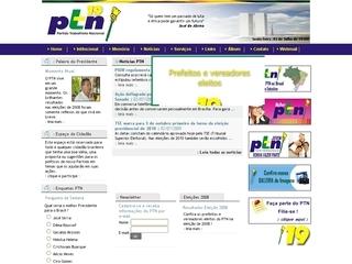 Thumbnail do site Partido Trabalhista Nacional (PTN)