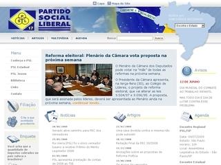 Thumbnail do site Partido Social Liberal (PSL)